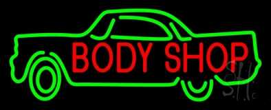 Body Shop Car Logo LED Neon Sign
