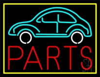 Car Logo Parts Yellow Border LED Neon Sign