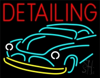 Detailing With Car Logo LED Neon Sign