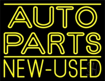 Double Stroke Yellow Auto Parts New Used LED Neon Sign