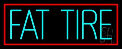 Turquoise Fat Tire LED Neon Sign