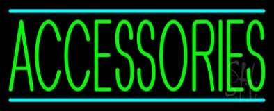Green Accessories Turquoise Lines LED Neon Sign