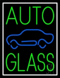 Green Auto Glass Blue Car 1 LED Neon Sign