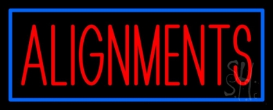 Red Alignments 1 LED Neon Sign