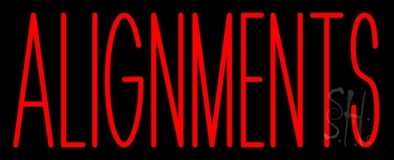 Red Alignments LED Neon Sign
