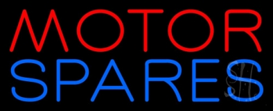 Red Motor Blue Spares 2 LED Neon Sign