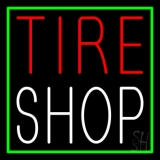 Red Tire Shop Block LED Neon Sign