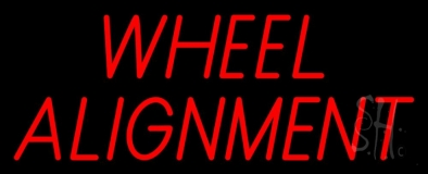 Red Wheel Alignment 1 LED Neon Sign