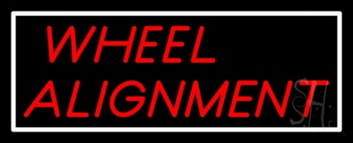 Red Wheel Alignment LED Neon Sign