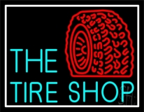 The Tire Shop Red Logo LED Neon Sign