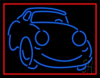 Blue Car Logo 1 LED Neon Sign