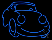Blue Car Logo LED Neon Sign