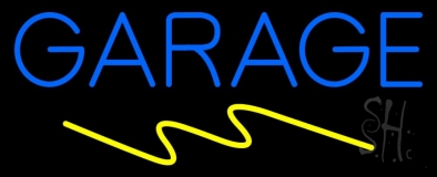 Blue Garage LED Neon Sign