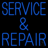 Blue Service And Repair 1 LED Neon Sign