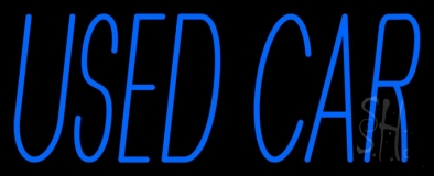 Blue Used Car Block LED Neon Sign