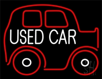White Used Car With Logo LED Neon Sign