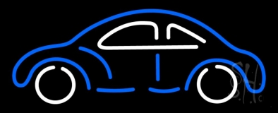 Blue And White Car Logo LED Neon Sign