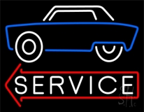 Car Logo Service 1 LED Neon Sign
