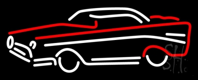 Red And White Car Logo LED Neon Sign