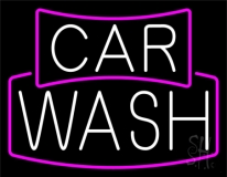 White Car Wash LED Neon Sign