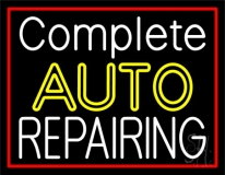 Complete Auto Repairing Red Border LED Neon Sign