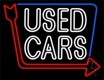 Double Stroke Used Cars LED Neon Sign
