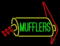 Green Mufflers LED Neon Sign