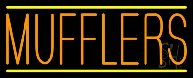 Orange Mufflers Yellow Lines LED Neon Sign