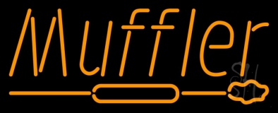 Orange Muffler With Logo LED Neon Sign