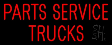 Parts Service Trucks LED Neon Sign