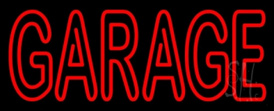 Red Double Stroke Garage LED Neon Sign