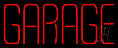 Red Garage 1 LED Neon Sign