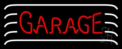 Red Garage Block LED Neon Sign