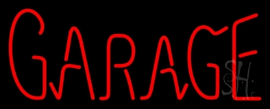 Red Garage LED Neon Sign
