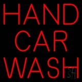 Red Hand Car Wash LED Neon Sign
