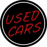 Red Used Cars LED Neon Sign