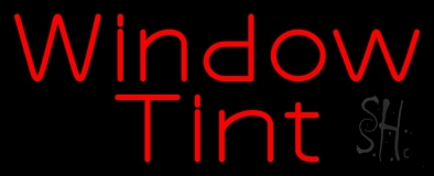 Red Window Tint LED Neon Sign