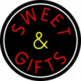 Sweets And Gifts With Border LED Neon Sign