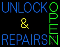 Unlock And Repairs Green Open LED Neon Sign