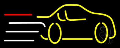 Yellow Car Logo LED Neon Sign