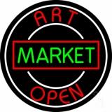 Art Market Open 1 LED Neon Sign