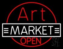 Art Market Open LED Neon Sign
