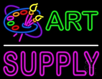 Art Supply With Logo 1 LED Neon Sign