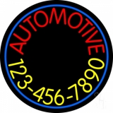 Automotive With Yellow Number LED Neon Sign