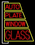Auto Plate Window Glass LED Neon Sign