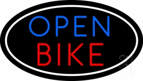 Bike Open With Border LED Neon Sign