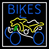Blue Bikes With Logo LED Neon Sign
