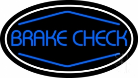 Blue Brake Check LED Neon Sign