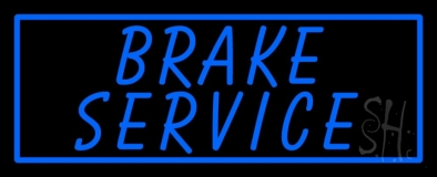 Blue Brake Service LED Neon Sign