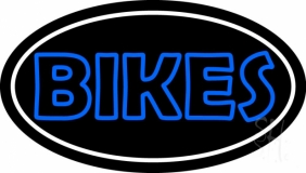 Blue Double Stroke Bikes LED Neon Sign